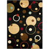 Safavieh Porcello Black and Multicolor Rectangular Indoor Machine-Made Area Rug (Common: 8 x 10; Actual: 96-in W x 134-in L x 0.92-ft Dia)