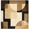 Safavieh Porcello 7-ft x 7-ft Square Black Geometric Area Rug