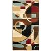 Safavieh Porcello Black and Multicolor Rectangular Indoor Machine-Made Throw Rug (Common: 3 x 5; Actual: 31-in W x 60-in L x 0.42-ft Dia)