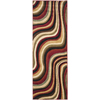 Safavieh Porcello Red and Multicolor Rectangular Indoor Machine-Made Runner (Common: 2 x 6; Actual: 28-in W x 79-in L x 0.58-ft Dia)