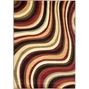 Safavieh Porcello Red and Multicolor Rectangular Indoor Machine-Made Area Rug (Common: 8 x 10; Actual: 96-in W x 134-in L x 0.92-ft Dia)