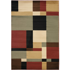 Safavieh Porcello Black and Multicolor Rectangular Indoor Machine-Made Area Rug (Common: 4 x 6; Actual: 48-in W x 67-in L x 0.42-ft Dia)