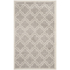 Safavieh Amherst Light Grey Rectangular Indoor and Outdoor Machine-Made Throw Rug (Common: 3 x 5; Actual: 36-in W x 60-in L x 0.42-ft Dia)