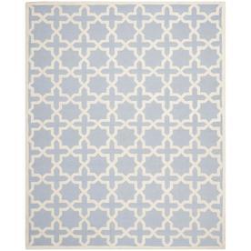 Safavieh Cambridge Light Blue and Ivory Rectangular Indoor Tufted Area Rug (Common: 8 x 10; Actual: 96-in W x 120-in L x 0.67-ft Dia)