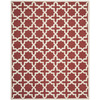 Safavieh Cambridge 8-ft x 10-ft Rectangular Orange Geometric Area Rug