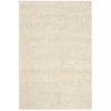 Safavieh California Shag Beige Rectangular Indoor Machine-Made Throw Rug (Common: 3 x 5; Actual: 36-in W x 60-in L x 0.5-ft Dia)