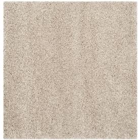 Safavieh California Shag Beige Square Indoor Machine-Made Area Rug (Common: 7 x 7; Actual: 79-in W x 79-in L x 0.58-ft Dia)