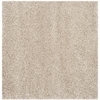 Safavieh California Shag 6-ft 7-in x 6-ft 7-in Square Cream Solid Area Rug