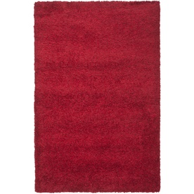 Safavieh California Shag 6-ft 7-in x 9-ft 6-in Rectangular Red Solid Area Rug