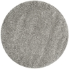 Safavieh California Shag 6-ft 7-in x 6-ft 7-in Round Gray Solid Area Rug