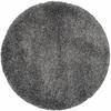 Safavieh California Shag Dark Grey Round Indoor Machine-Made Area Rug (Common: 4 x 4; Actual: 48-in W x 48-in L x 0.42-ft Dia)
