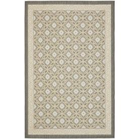 Safavieh Courtyard 6-ft 7-in x 9-ft 6-in Rectangular Gray Transitional Indoor/Outdoor Area Rug