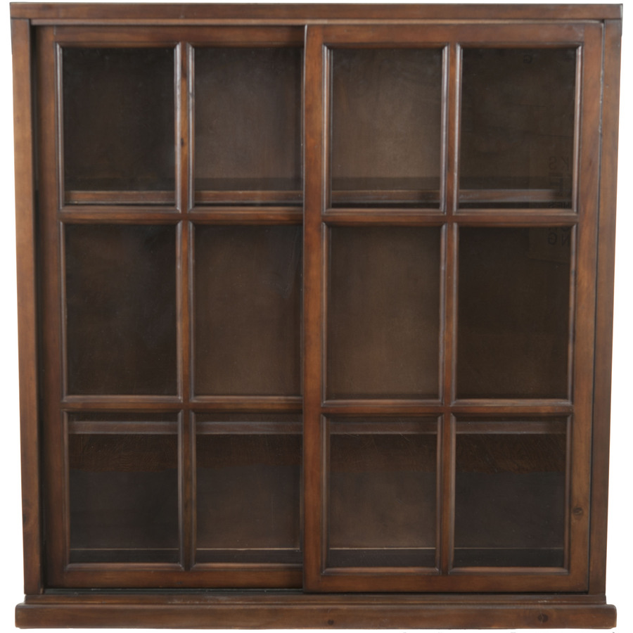 Safavieh American Home Walnut 40 2 In 3 Shelf Bookcase At
