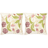 Safavieh 2-Piece 18-in W x 18-in L Pink/Cream Square Indoor Decorative Complete Pillows