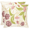 Safavieh 2-Piece 18-in W x 18-in L Pink Square Accent Pillow