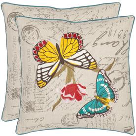 Safavieh 2-Piece 18-in W x 18-in L Multicolor Square Indoor Decorative Complete Pillows