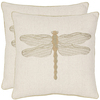 Safavieh 2-Piece 18-in W x 18-in L Cream Square Accent Pillow