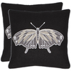 Safavieh 2-Piece 18-in W x 18-in L Black Square Indoor Decorative Complete Pillows