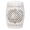 Safavieh 18-in Cream Ceramic Barrel Garden Stool