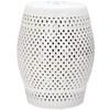 Safavieh 18.5-in Cream Ceramic Barrel Garden Stool