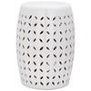Safavieh 18.5-in White Ceramic Barrel Garden Stool