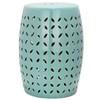 Safavieh 18.5-in Robins Egg Blue Ceramic Barrel Garden Stool