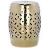 Safavieh 18.5-in Gold Ceramic Barrel Garden Stool