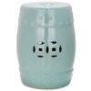 Safavieh 18-in Light Aqua Ceramic Barrel Garden Stool