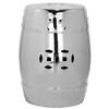 Safavieh 18-in Silver Ceramic Barrel Garden Stool