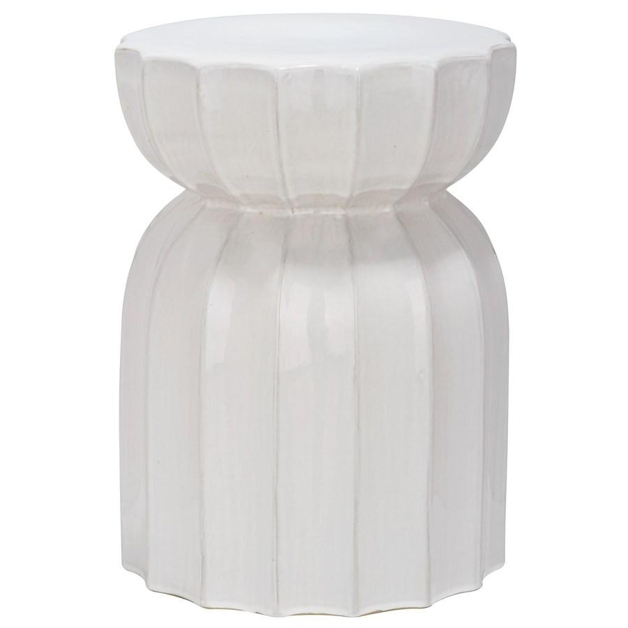 Enlarged image for White garden stool