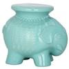Safavieh 16.8-in Robins Egg Blue Ceramic Elephant Garden Stool