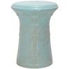 Safavieh 15.5-in Light Aqua Ceramic Garden Stool