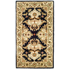 Safavieh Heritage 27-in x 48-in Rectangular Black Floral Accent Rug
