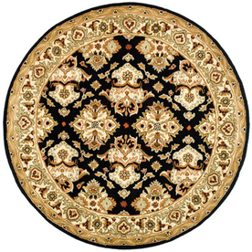 Safavieh Heritage Round Black Transitional Tufted Wool Area Rug (Common: 6-ft x 6-ft; Actual: 6-ft x 6-ft)