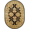 Safavieh Heritage 7-ft 6-in x 9-ft 6-in Oval Black Transitional Area Rug