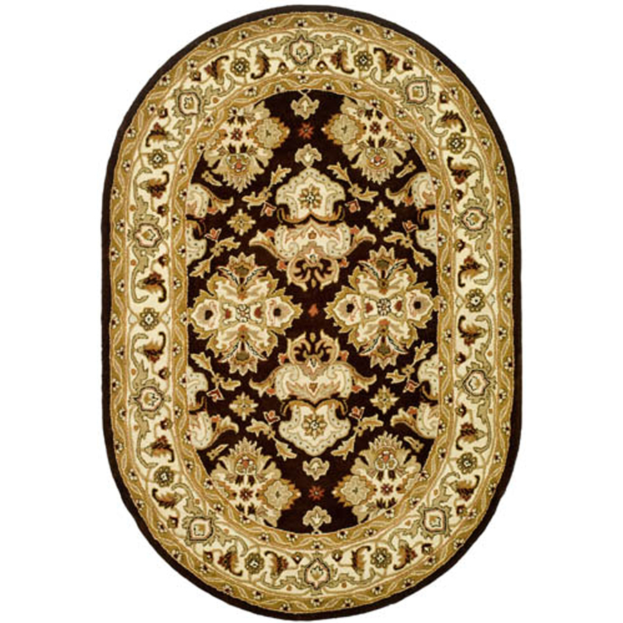 Shop Safavieh Heritage Oval Brown Transitional Tufted Wool