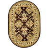 Safavieh Heritage 4-ft 6-in x 6-ft 6-in Oval Tan Transitional Area Rug