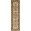 Safavieh Lyndhurst Ivory and Tan Rectangular Indoor Machine-Made Runner (Common: 2 x 14; Actual: 27-in W x 168-in L x 0.42-ft Dia)