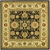 Safavieh Kashan Black and Ivory Square Indoor Machine-Made Area Rug (Common: 8 x 8; Actual: 96-in W x 96-in L x 0.5-ft Dia)