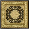Safavieh 6-ft x 6-ft Black Tabriz Area Rug