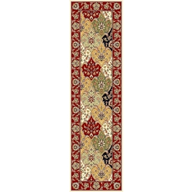 Safavieh Lyndhurst Multicolor and Red Rectangular Indoor Machine-Made Runner (Common: 2 x 22; Actual: 27-in W x 264-in L x 0.67-ft Dia)