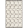 Safavieh Amherst Ivory and Light Grey Rectangular Indoor/Outdoor Machine-Made Throw Rug (Common: 3 x 5; Actual: 36-in W x 60-in L x 0.42-ft Dia)