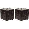 Safavieh Hudson Brown Square Ottoman