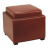 Safavieh Hudson Red Square Ottoman