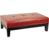 Safavieh Hudson Red Rectangular Ottoman