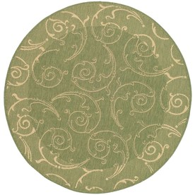 Shop Safavieh Courtyard Round Green Transitional Indoor Outdoor Area Rug Com