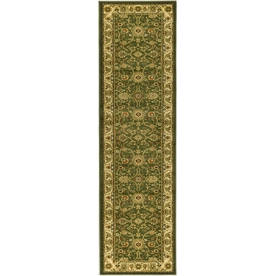 Safavieh Lyndhurst 2-ft 3-in W x 12-ft L Green Runner