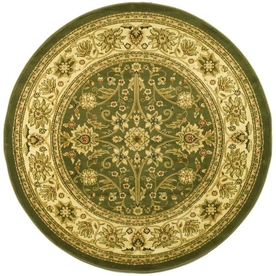 Safavieh Lyndhurst Sage and Ivory Round Indoor Machine-Made Area Rug (Common: 8 x 8; Actual: 96-in W x 96-in L x 0.5-ft Dia)