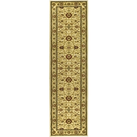 Safavieh Lyndhurst Ivory and Ivory Rectangular Indoor Machine-Made Runner (Common: 2 x 12; Actual: 27-in W x 144-in L x 0.33-ft Dia)