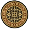 Safavieh Lyndhurst 5-ft 3-in x 5-ft 3-in Round Black Floral Area Rug